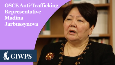 Link to OSCE Anti-Trafficking Representative Madina Jarbussynova