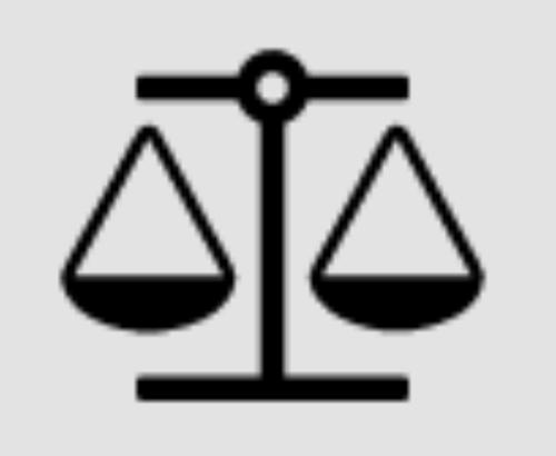 Icon representing justice