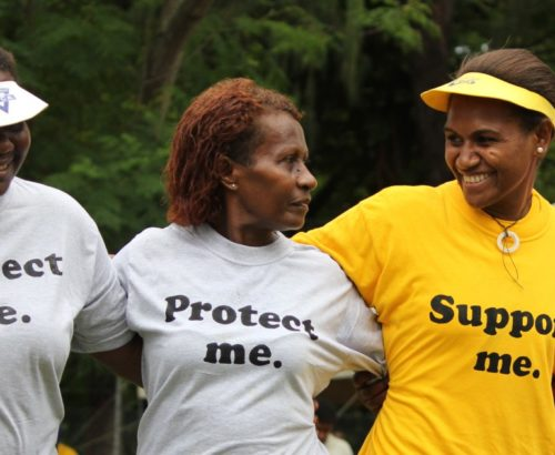 Women's civil society activists in the Solomon Islands