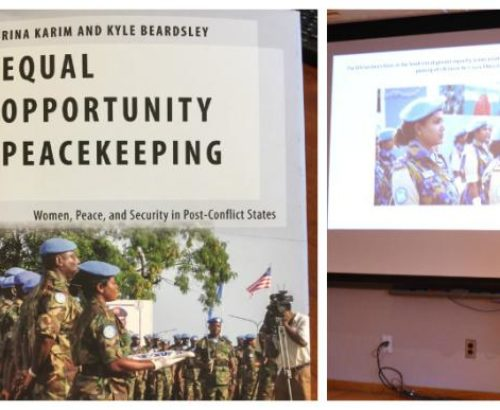 Collage of images from peacekeeping discussion