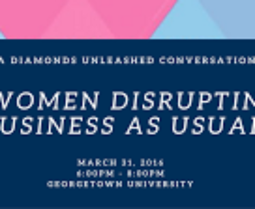 Invite to Women Disrupting Business as Usual