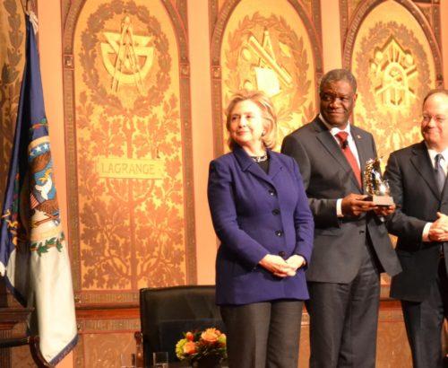 Dr. Denis Mukwege receives the HRC Award at Georgetown