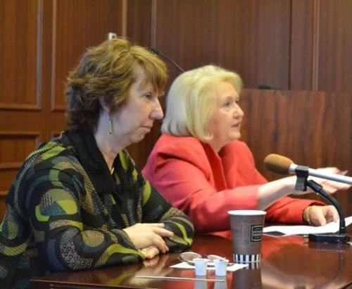 Melanne Verveer and Cathy Ashton