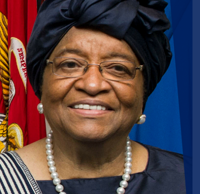 Event ad for Ellen Johnson Sirleaf