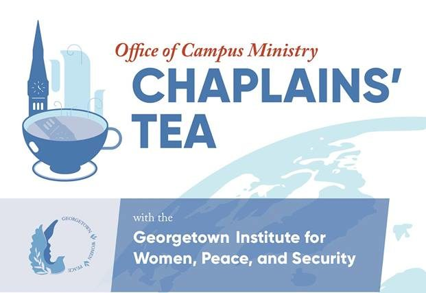 Event flyer for Chaplain's Tea on April 24, 2018