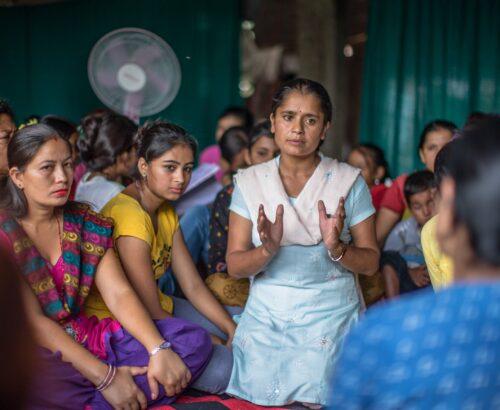 Women speaking