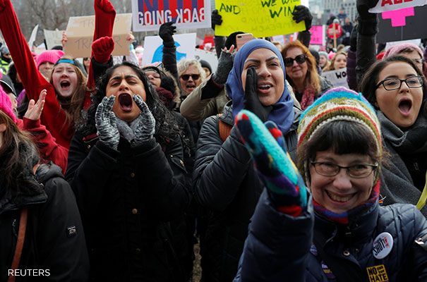 Women protest
