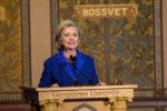 Hillary Clinton speaks at Georgetown podium