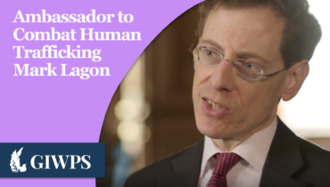 Link to Ambassador to Combat Human Trafficking Mark Lagon