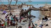 Devastation in Haiti following the hurricane