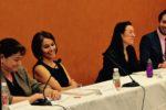 Claudia Paz y Paz and panel