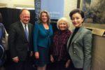 Melanne Verveer, Jack DeGioia, and guests