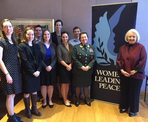 GIWPS team with Major General Kristin Lund