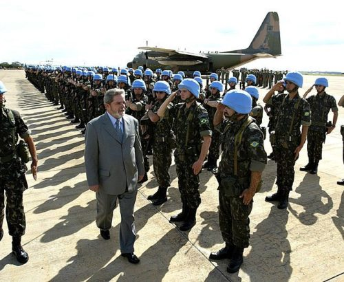 Inspecting peacekeeping forces