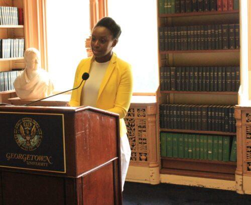 Chimamanda Ngozi Adichie speaks at Georgetown