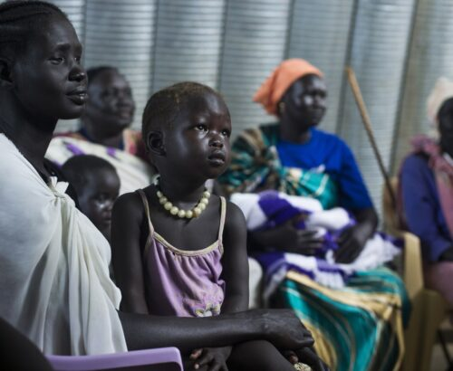 Women and children affected by violence in South Sudan