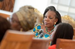 Discussing women's rights in the Central African Republic
