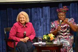 Discussion between Ambassador Verveer and Ngozi Okonjo-Iweala