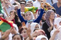 Kurdish protestor