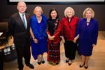 Lord Hague and Ambassador Verveer stand with awardees from Northern Ireland, Myanmar and Ukraine