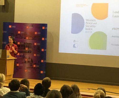 Dr. Jeni Klugman speaks at the LSE