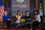 Secretary Clinton, Wai Wai Nu, Nadia Murad, and Lyse Doucet