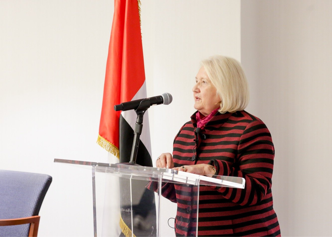 Amb. Verveer offers opening remarks at a United Nations side event