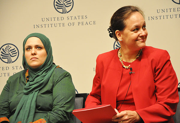 Carla Koppell speaks at a USIP event about Afghanistan