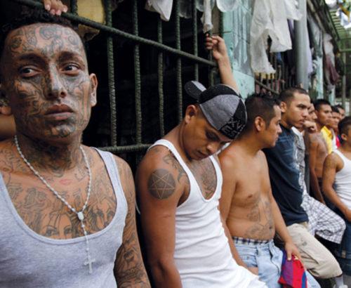 Gang members in El Salvador