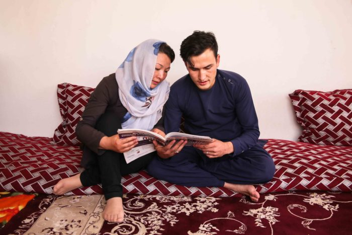 Zohra with her husband, Nasrullah.