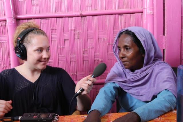 Brenna interviewing Nurjahan