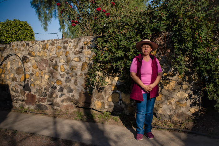 Women stands in Mexico