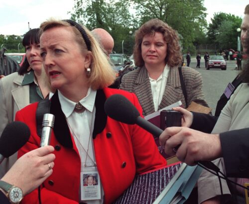 Monica McWilliams is interviewed in Northern Ireland
