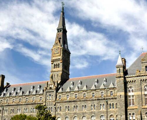 Georgetown university's campus, Healy Hall