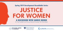 Justice for Women event graphic