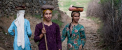 Women walking in India