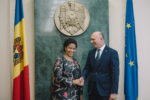 Ms. Phumzile Mlambo-Ngcuka at the meeting with Pavel Filip, Prime Minister of Moldova. Chisinau, Republic of Moldova.