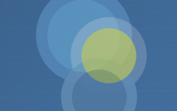 Abstract image of blue circles