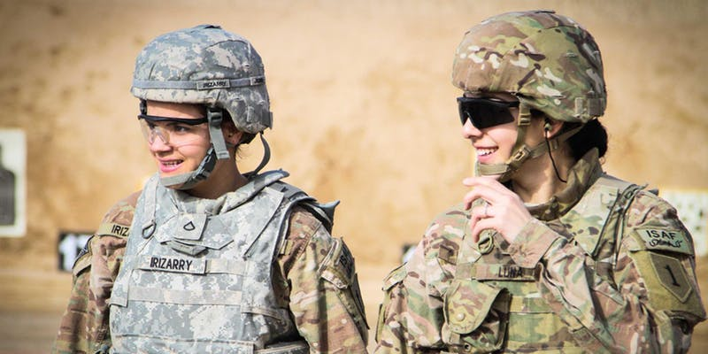 Two military women