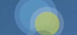 Abstract blue circles