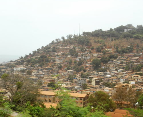 Landscape in Freetown, Sierra Leone
