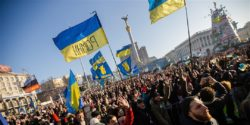 Protesters in Ukraine.