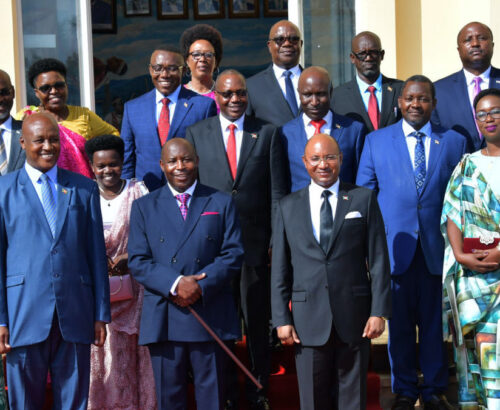 Photo of the members of the Burundian cabinet, 2020
