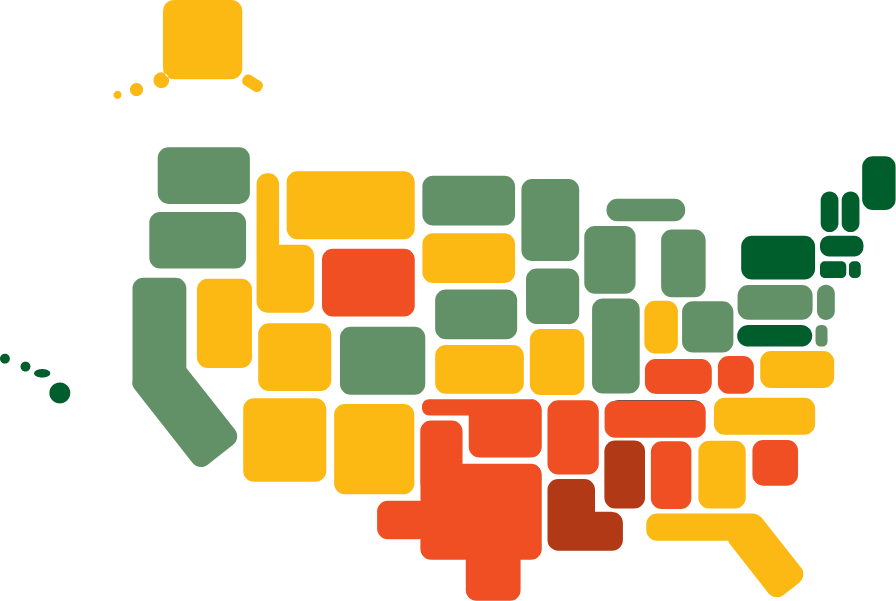 Illustration of United States map
