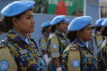 Women peacekeepers in uniform