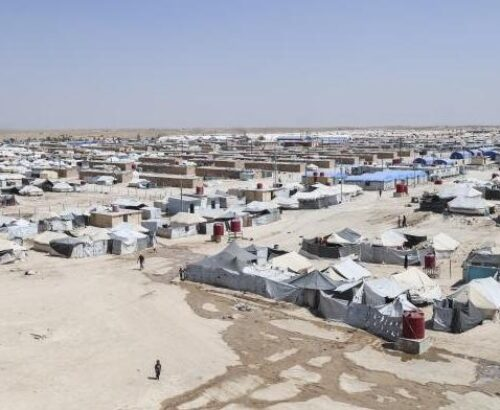 A bird's eye view of the Al-Hol camp for ISIS-affiliated women in Syria