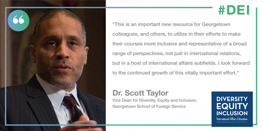 Image of Scott Taylor, Vice Dean for Diversity, Equity and Inclusion at the Georgetown School of Foreign Service