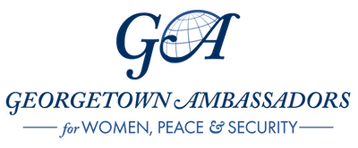 """Logo that reads """"Georgetown Ambassadors for Women, Peace and Security"""