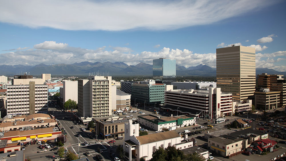 Anchorage, Alaska downtown skyline