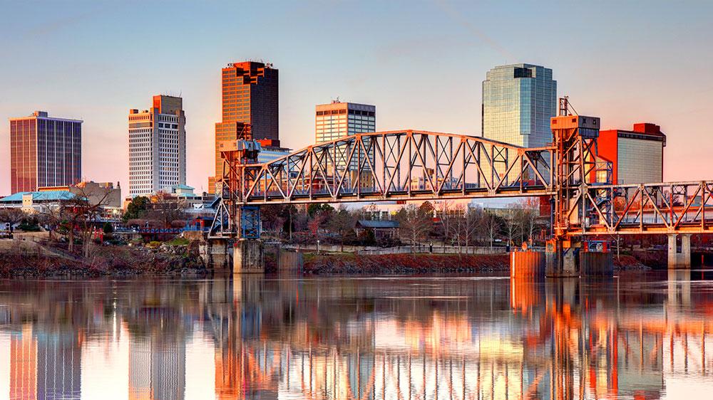 Little Rock, Arkansas downtown skyline